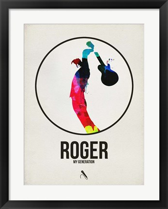 Framed Roger Watercolor Print