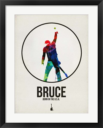 Framed Bruce Watercolor Print