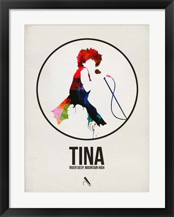 Framed Tina Watercolor Print