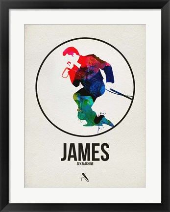 Framed James Watercolor Print