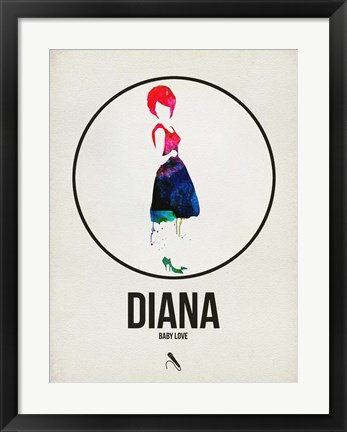Framed Diana Watercolor Print