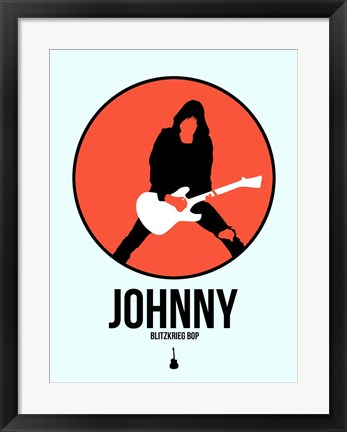 Framed Johnny Circle 4 Print
