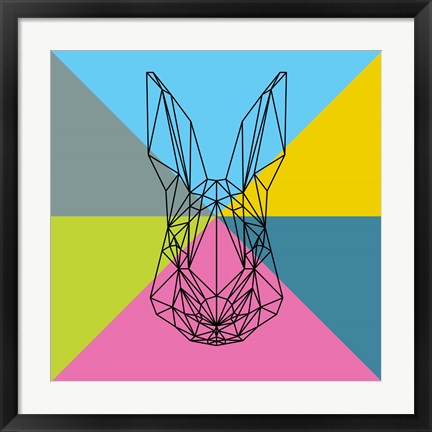 Framed Party Rabbit Print