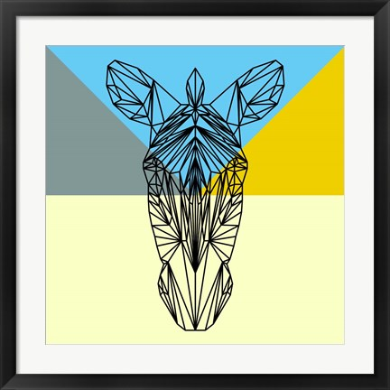 Framed Party Zebra Print