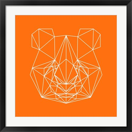 Framed Panda on Orange Print