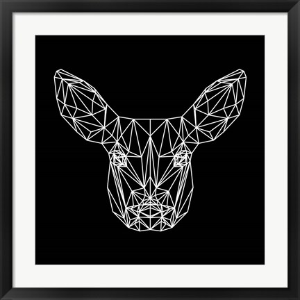 Framed Baby Deer Polygon Print