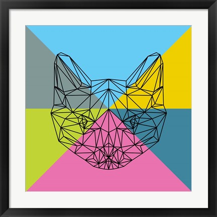 Framed Party Cat 2 Print
