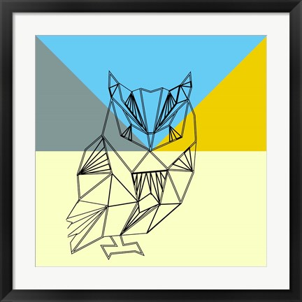 Framed Party Owl Print