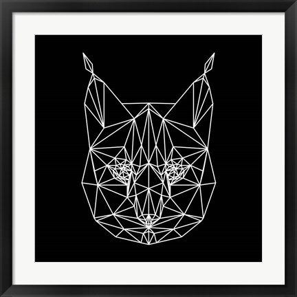 Framed Bobcat Polygon1 Print