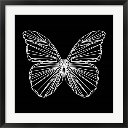 Framed Butterfly Polygon Print