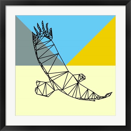 Framed Party Eagle Polygon Print