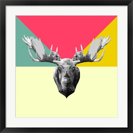 Framed Party Moose Print