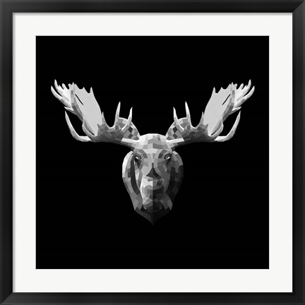 Framed Moose Head Print