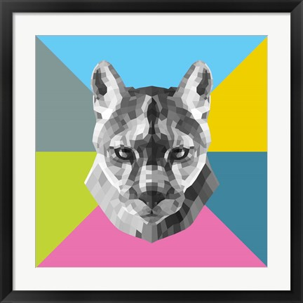 Framed Party Mountain Lion Print