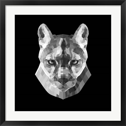 Framed Mountain Lion Head Print
