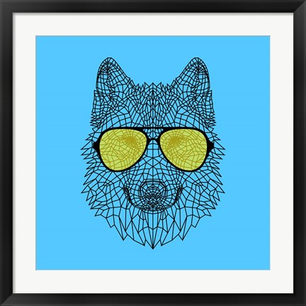 Framed Woolf in Yellow Glasses Print