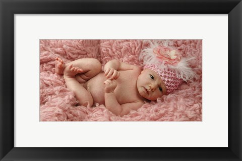 Framed Baby in Pink Print