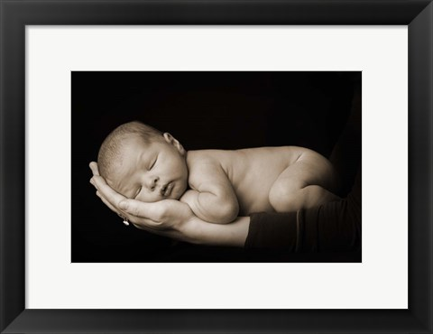 Framed Asleep in Palm Print