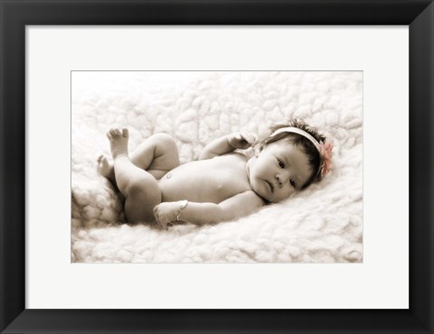 Framed Baby in White Print