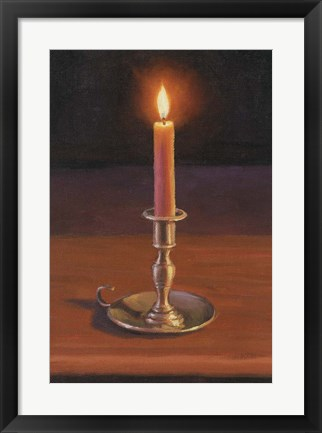 Framed Single Candle Print