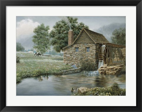 Framed Country Mill Print