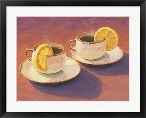 Framed Tea Cups Print