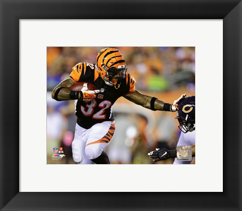 Framed Jeremy Hill 2015 Action Print