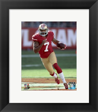 Framed Colin Kaepernick 2015 Action Print