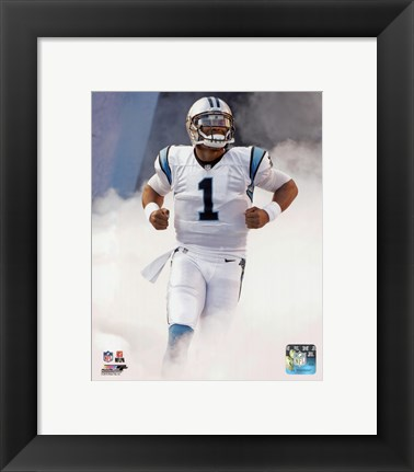 Framed Cam Newton 2015 Action Print