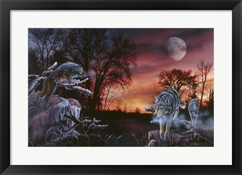 Framed Moonlight Trackers Print
