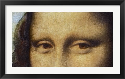 Framed Mona Lisa - Detail Of Eyes Print
