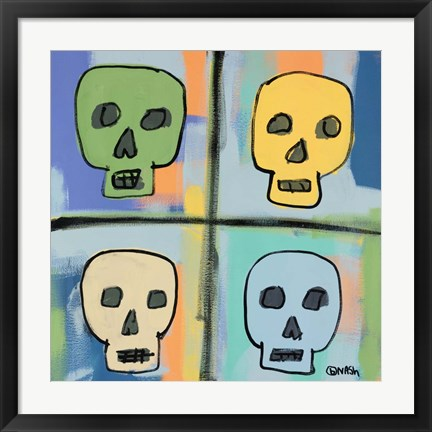 Framed Four Skulls Print