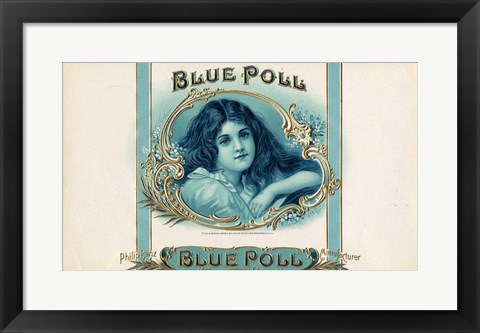Framed Blue Poll Print