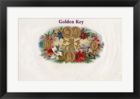 Framed Golden Key Print