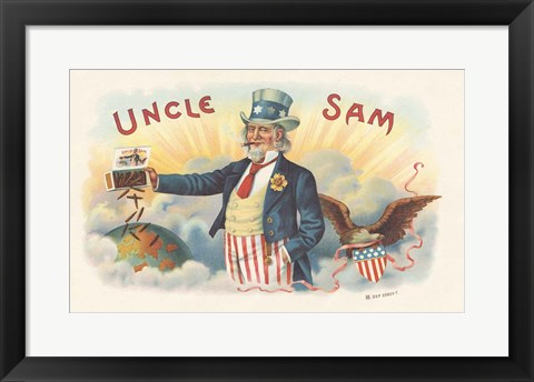 Framed Uncle Sam Print