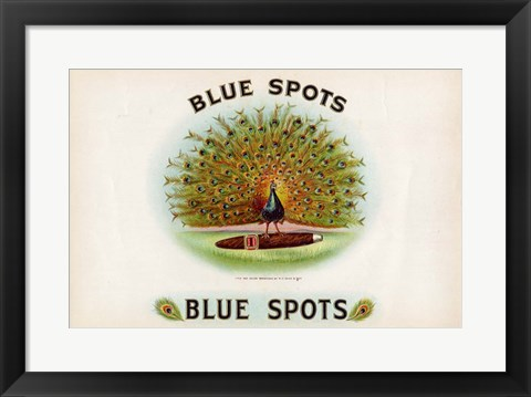 Framed Blue Spots Print