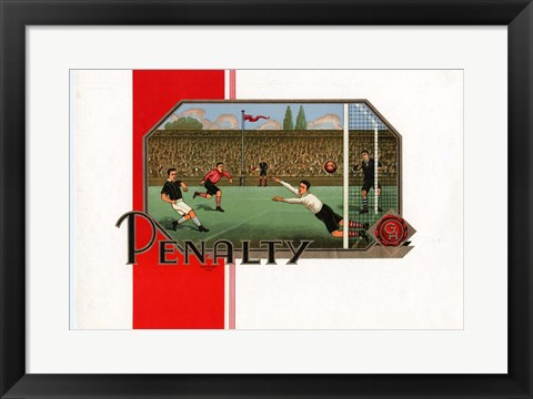 Framed Penalty Print