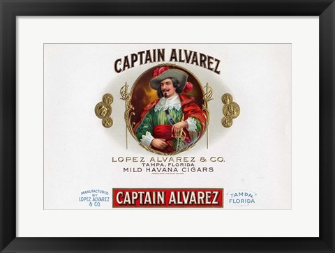 Framed Captain Alvarez Print