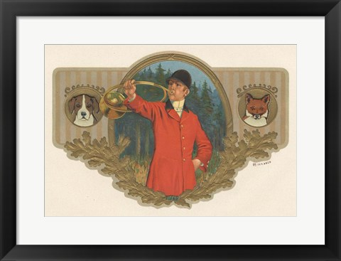 Framed Fox And Hound Print