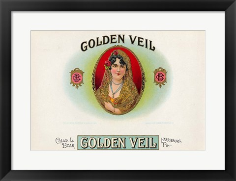 Framed Golden Veil Print