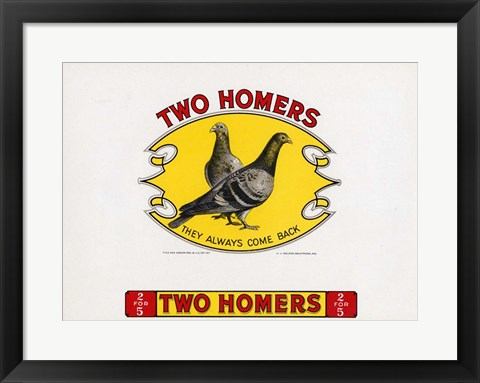 Framed Two Homers Print