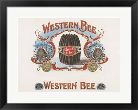 Framed Western Bee Print