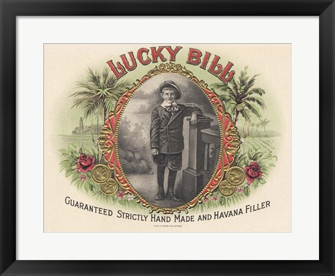 Framed Lucky Bill Print