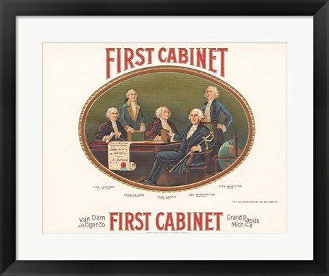 Framed First Cabinet Print