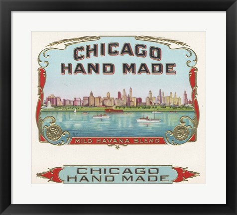 Framed Chicago Hand Made Print
