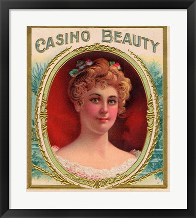 Framed Casino Beauty Print