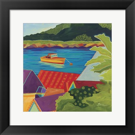 Framed Looking Over Stonington Print