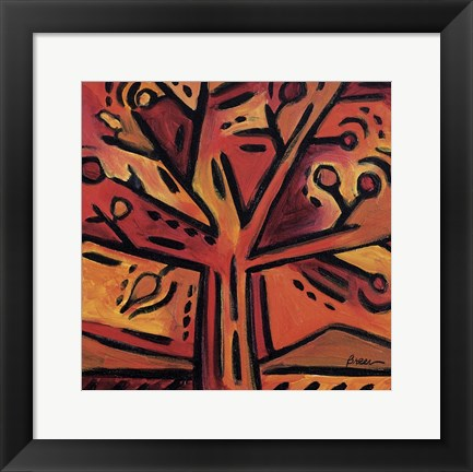 Framed Orange Tree Print