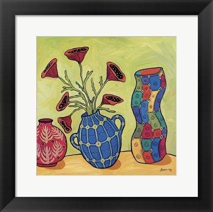 Framed Three Vases Print