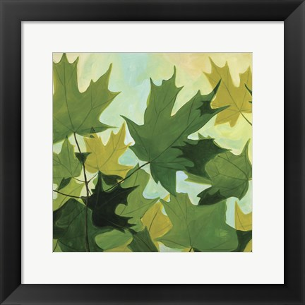 Framed Summer Leaves Print